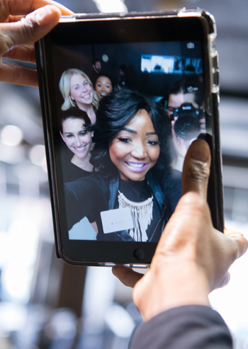selfie on an ipad at douglas j