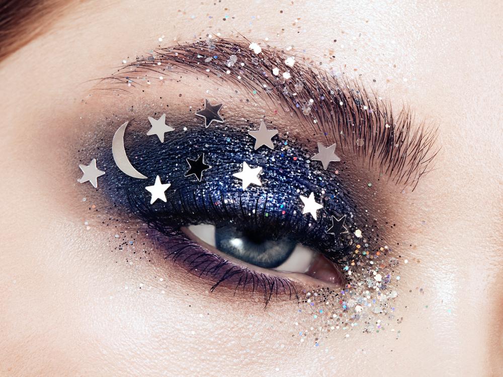 Girl with glittery eyeshadow
