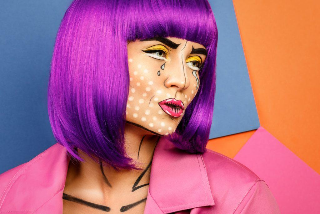 Girl with pop art makeup