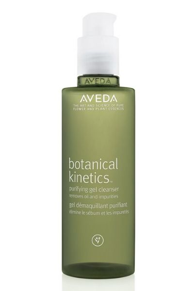 green bottle of aveda face wash