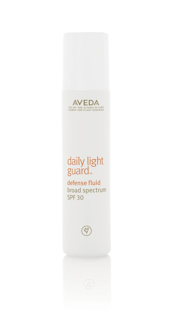 bottle of aveda sunscreen